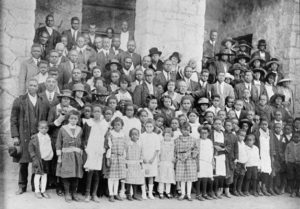 Congregation of Bush Chapel AME Zion Church, Easter Sunday, 1920